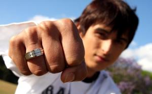 Paulo Sérgio mostra seu anel